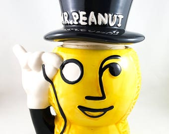 Mr. Peanut Ceramic Cookie Jar