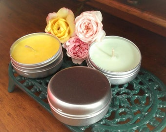 Meditation Travel Candles - Soy wax plain unscented or with aromatherapy essential oils