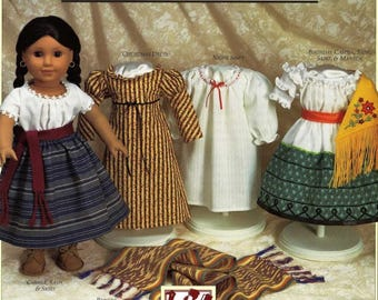 Vintage Sewing Pattern PDF ,Josefina's Pretty Clothes,Pleasant Company,American Girl,accessories :A035 / PDF-Instant Download.