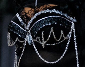 Goth Fusion Belly Dance Custom Bra