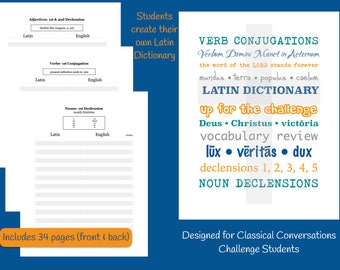 Challenge Student Latin Vocabulary Notebook