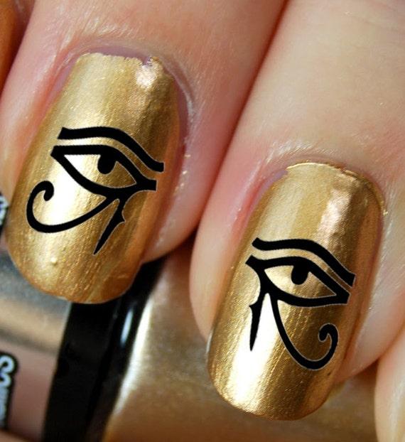 Like this item? - 44 Eye Of Horus / Ra Egyptian Nail Art EYB Black