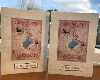 Peter rabbit beattix potter birthday card