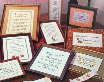 Warm Feelings counted cross stitch sampler pattern book