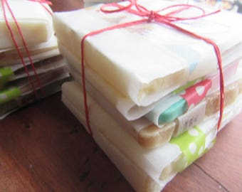sample soap/artisan soap/natural ingredients/fragrance oil/essential oil/trial soap/variety pack/fun soap/made in long island NY/small batch