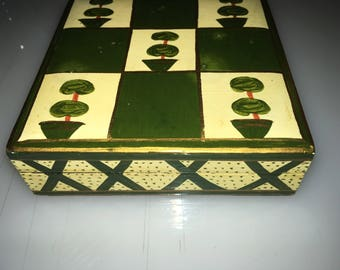 Set Of Six Beautiful Hand Painted Wood Coasters Made In  India