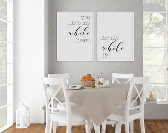 You Have My Whole Heart For Printable Sign Set Hadley Designs Wall
