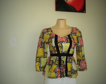 Ankara Top/Ankara Blouse/Ankara Wear
