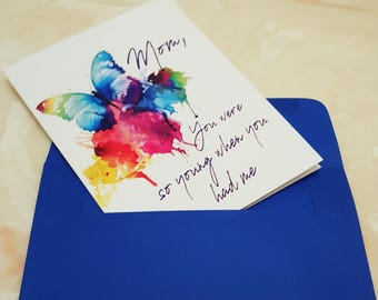 Maturing Mom Birthday Card