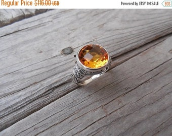 ON SALE Beautiful Madeira citrine ring handmade in sterling silver