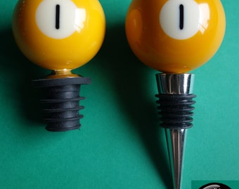 Number 1 Pool/Billiard Ball Wine Bottle Stopper