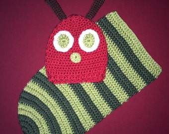 Very hungry caterpillar newborn hat & cocoon set - crocheted