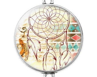 Great connector silver cabochon dreamcatcher dream catcher Indian c8
