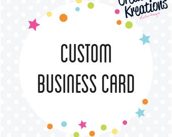 Custom Business Card Design (8 DESIGNS)
