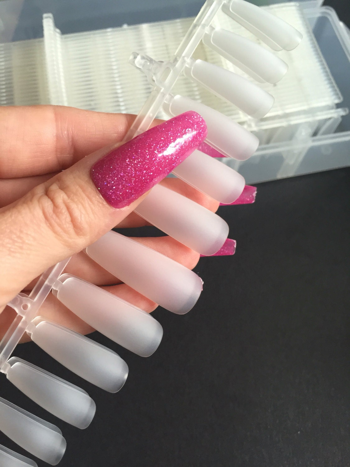1 x 360 pieces Extra long full cover or tips super size coffin claw ...