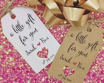 Bridesmaids, Bridal Shower Wedding Favour Gift Tags, Guest Label Kraft, Groomsmen