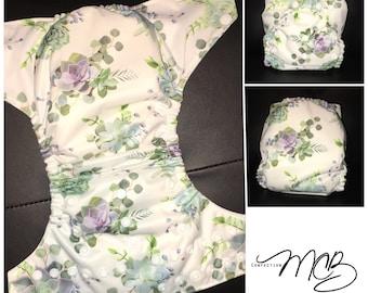 Green plants OS Pocket diaper