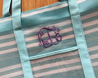 Monogrammed Beach Bag