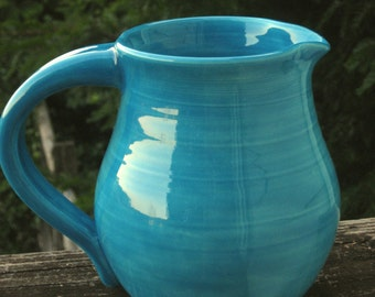 pitcher, turquoise