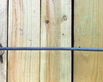 Wrought iron towel bar with scrolled ends Hand crafted by a blacksmith in the USA