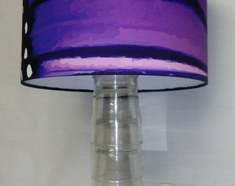 Purple Monarch Butterfly Wings Print 30cm Drum Lampshade