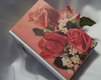 Vintage Beautiful Sentiments Music Book Music Box - Collector's - Happy Anniversary - Gift