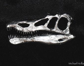 pewter dinosaur pin - Baryonyx
