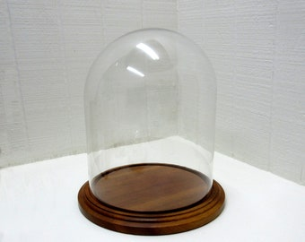 Vintage Large Glass Dome Or Cloche To Display Pretties And Collectables