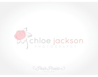 Logo Design (Premade) Flower logo, Rose logo, Photography logo, Modern logo, Boutique logo, Chic logo, Simple logo