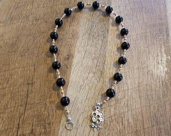 Gold & Black Delphic Maxims Prayer Beads