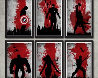 Vintage Avengers Movie Poster Set