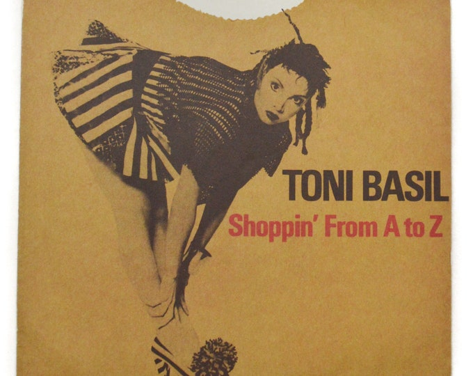 Vintage 80s Toni Basil Shoppin' From A to Z Pop New Wave Picture Sleeve Promo 45 RPM Single Record