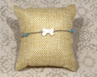 925 silver bracelet and Pearl bow