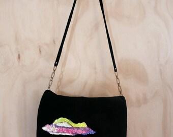 Cloud Velvet Sequined Bag