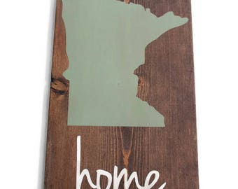 Minnesota State Sign, Minnesota Home, Custom State Sign, MN Wall Art, MN Sign, Minnesota Cabin Decor, Northern Minnesota Decor, Home Sign