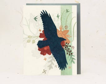 Midnight Raven Eco-Friendly Greeting Card