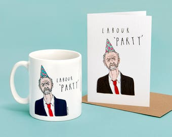 Jeremy Corbyn Labour 'Party' Mug & Card Set
