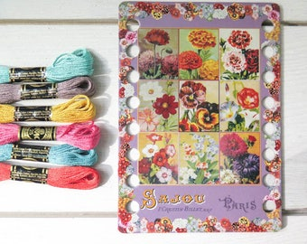 Thread Organizer | Embroidery Floss Organizer from Maison Sajou - FLOWERS