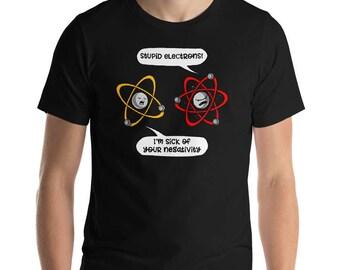 Science Gift Chemistry Gift Puns Nerd Science Shirt Chemistry Shirt Geek Gift Teacher Shirts Mens Shirts Physics Shirt Gift For Men