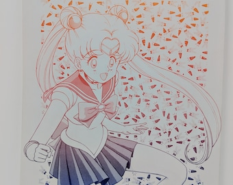 Odango Atama (Sailor Moon) - Vintage Doujinshi Comic w/ newsletter