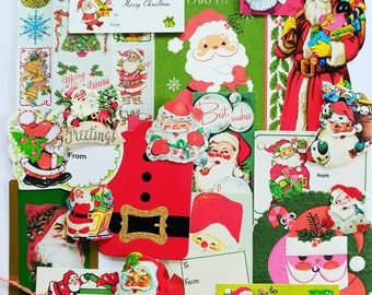 Vintage Santa Ephemera Pack / 20 Pieces / Daily Planner / December Journal / Scrapbook