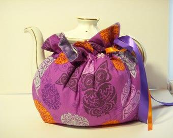 Purple Owl Teapot Cozy