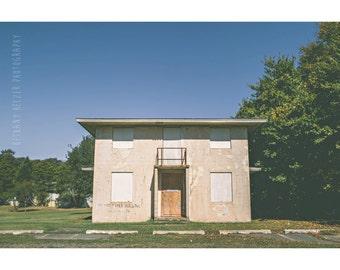 Long Island Photography, 8x12 Print, Abandoned Building Photography, Urban Exploration, Industrial Photography, New York Art, Camp Hero