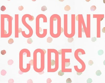 DISCOUNT CODES, do not purchase