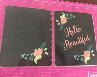 Planner cover/ chalkboard/ plan/pink.