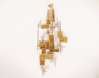 Mid Century Brutalist Wall Sculpture by Cliff Hyink