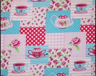 Tea party CL knit 1/2 yard