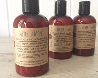 Meyer Lemon Body Lotion - Coconut Milk & Aloe Body Lotion with Cocoa Butter