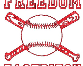 Freedom Fastpitch Softball in red