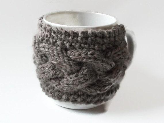 Mug Warmer Knitting Pattern Cozy Cup Warmer Pdf File From Twinkknits